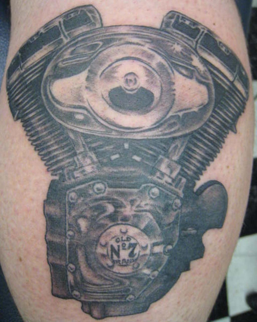 Harley Davidson engine tattoo hd Nate rogers by Zeek911 on ...