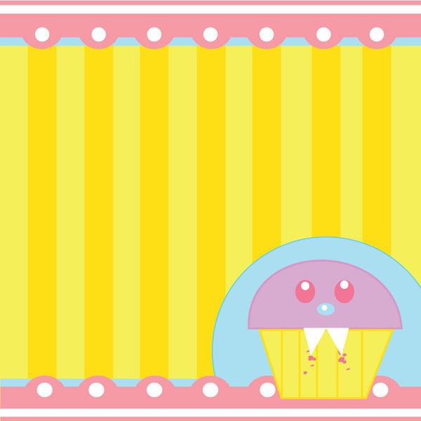 Cupcake Scrapbook Paper by manriquez