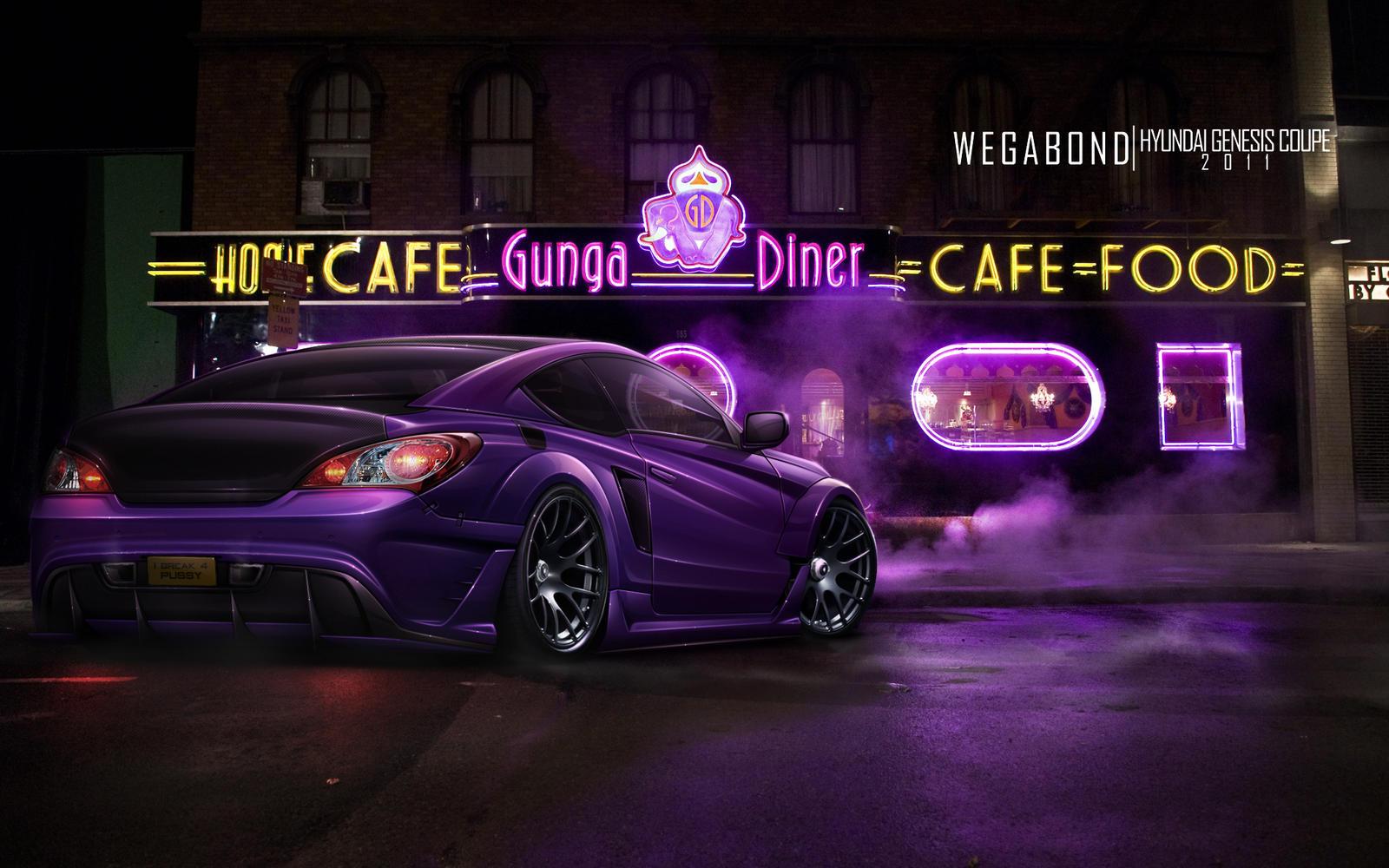 Hyundai Genesis Coupe Purple by wegabond