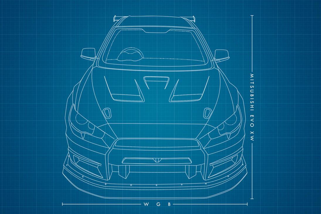 Mitsubishi Evo X Front Kit by wegabond