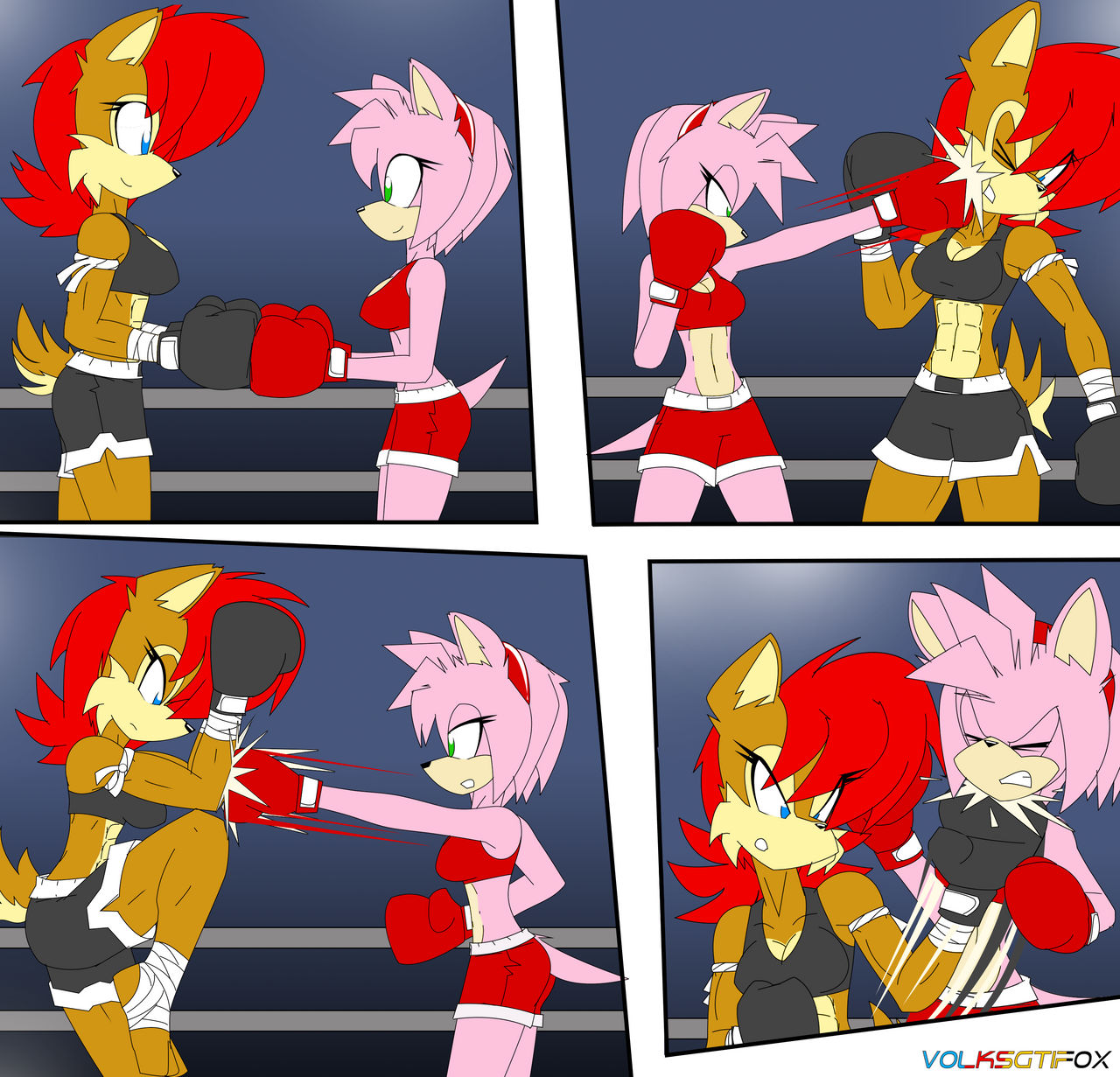 Amy vs Rouge request by OutThereOtaku on DeviantArt