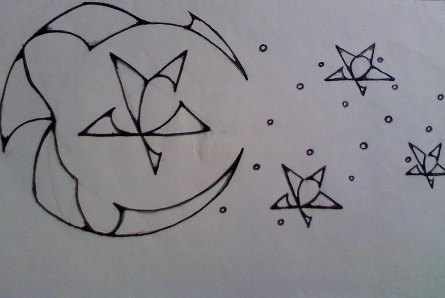 Moon and Stars tattoo by ~Nywynn on deviantART