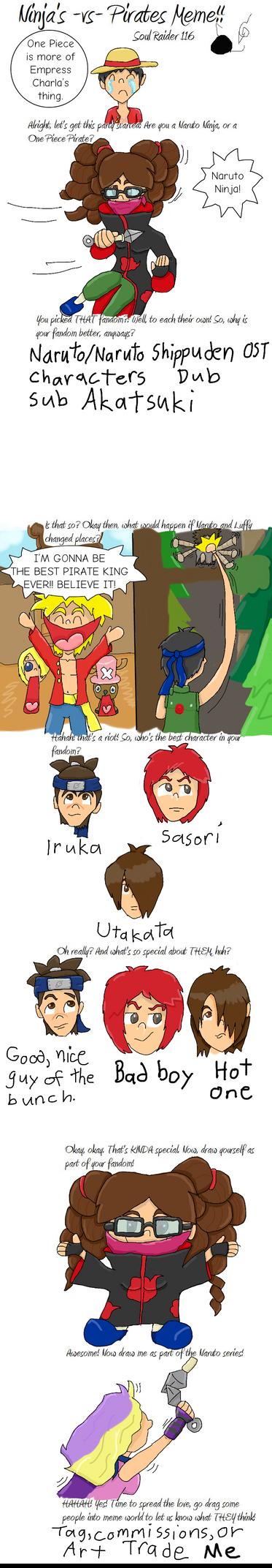 Ninja  Vs  Pirate Meme by Xarti