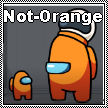 Among Us Logic - Not Orange Stamp