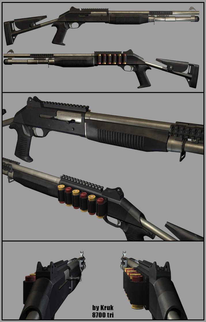 Weapon 3D: Shotgun benelli m4 by Kruku on DeviantArt