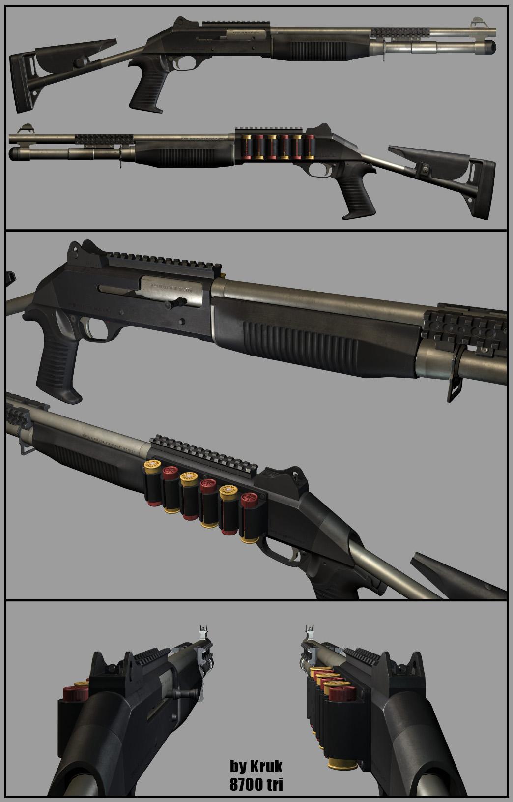 Weapon 3D: Shotgun benelli m4 by Kruku