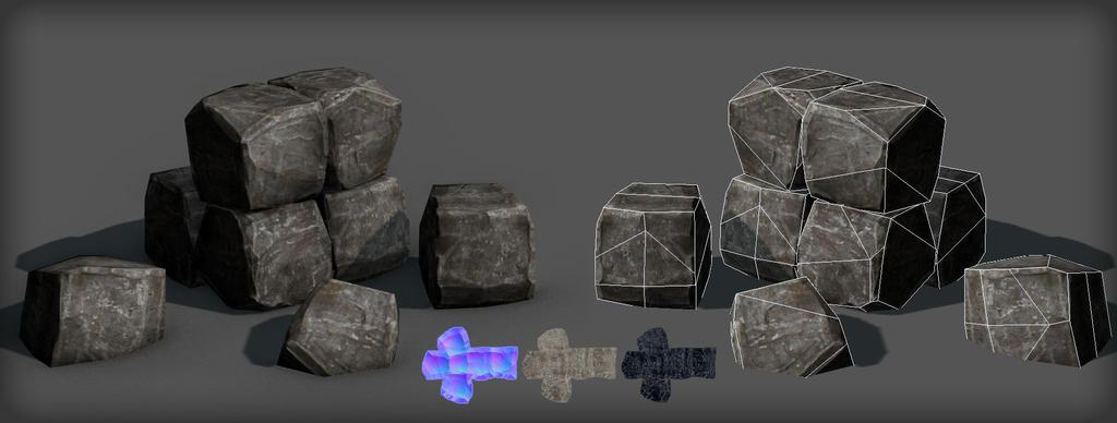 Rock Cube by Kruku