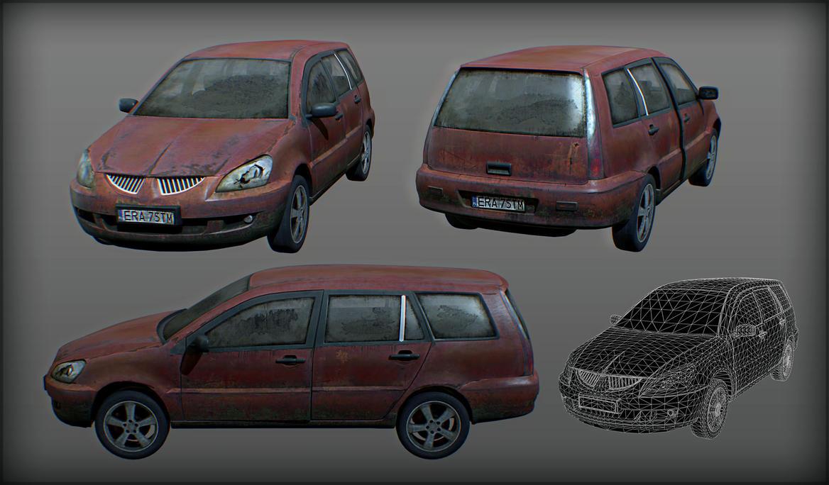 abandoned modern car by Kruku