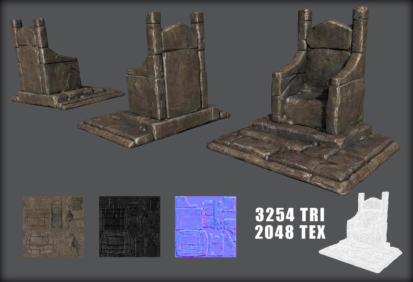 Stone Throne by Kruku