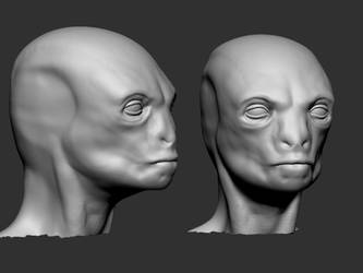 Head speed sculpt by Kruku