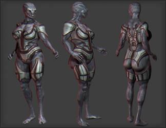 alien soldier by Kruku
