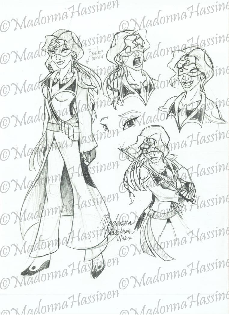 Taijitu Ninja - Drawing 07 by ColorfulArtist86