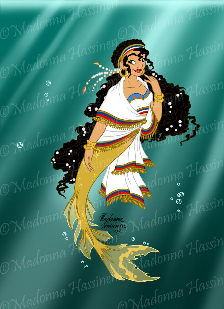 Assyrian Mermaid - Colors by ColorfulArtist86