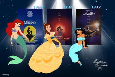 My Three Disney Favorites :D by ColorfulArtist86