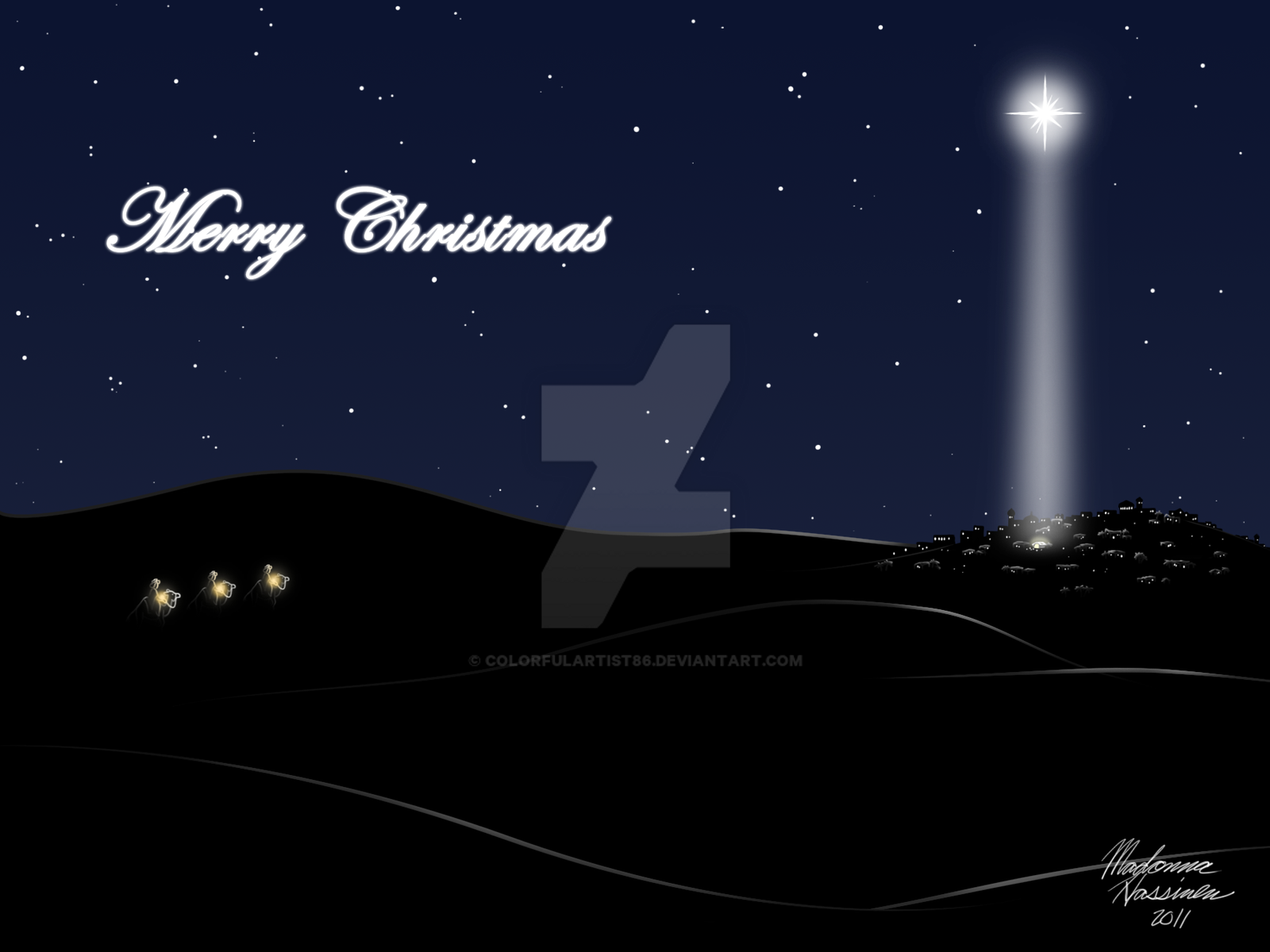 Merry Christmas 2011 Star Of Bethlehem By Colorfulartist86 On