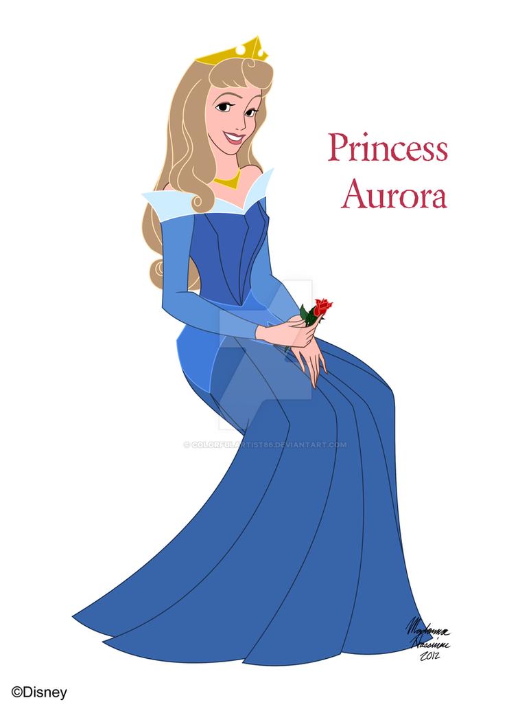 princess aurora sleeping beauty by colorfulartist86 on