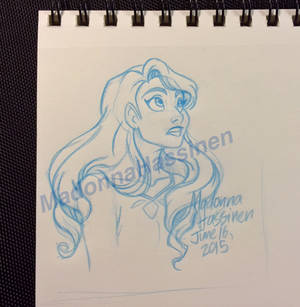 Lady's Curiosity - small sketch drawing - June 15'