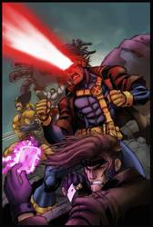 x-men battle by logicfun