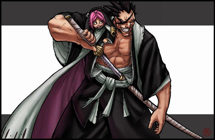 kenpachi and Yachiru by logicfun on DeviantArt