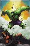 Hulk vs Wolverine end battle