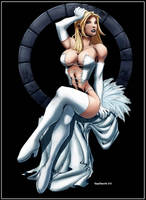 Emma Frost, The White Queen by logicfun