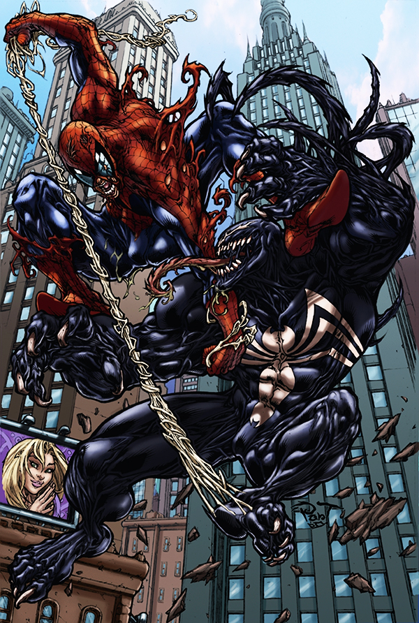 Spidey vs Venom by logicfun