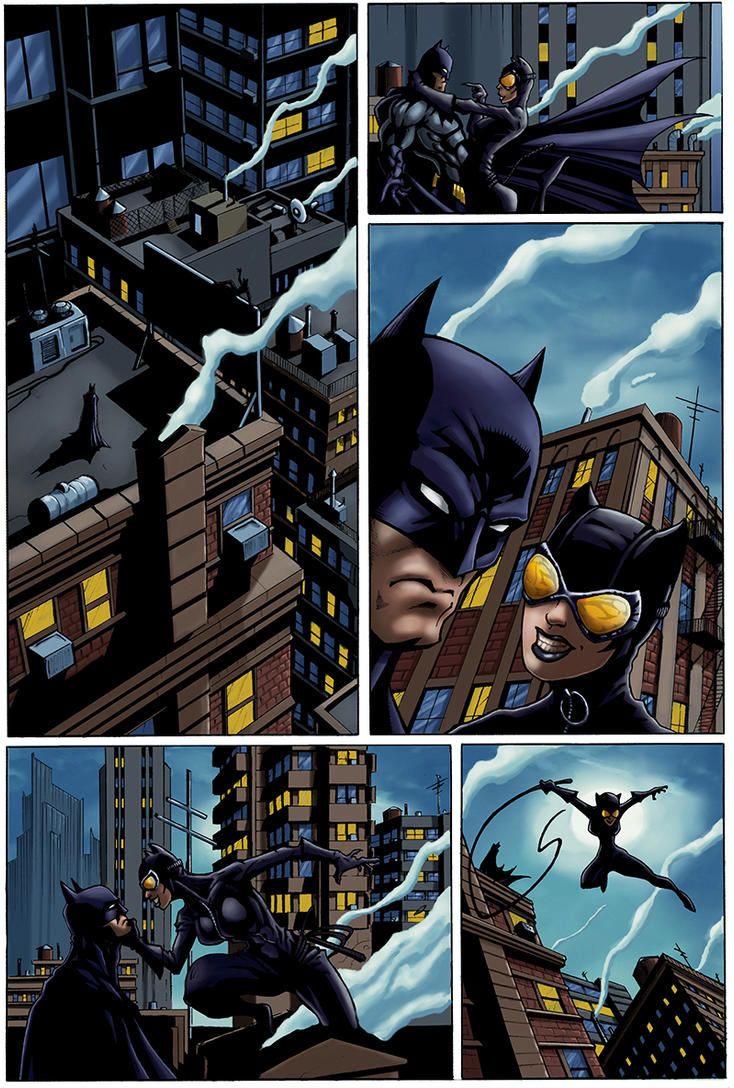 Batman and Catwoman by logicfun