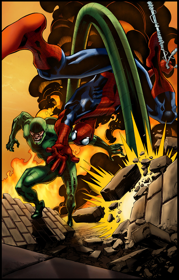 Spidey vs the Scorpion by logicfun