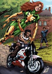 Jean Grey and Logan by logicfun