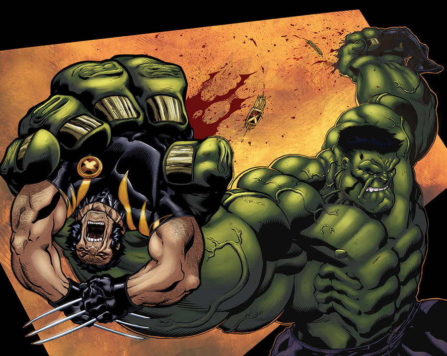 Hulk-Woverine Spread color by logicfun