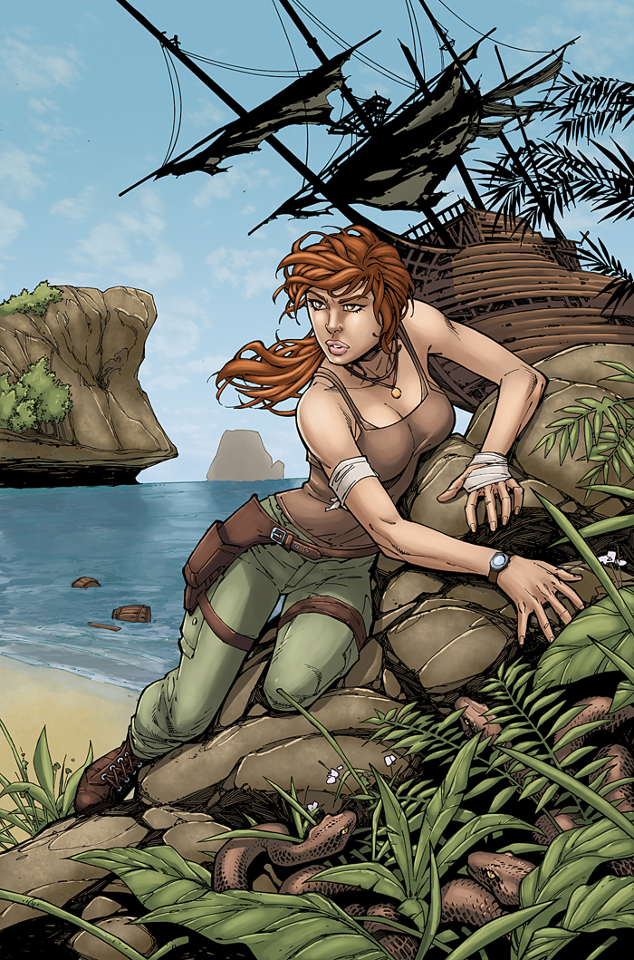 Tomb Raider 15th Anniversary color by logicfun