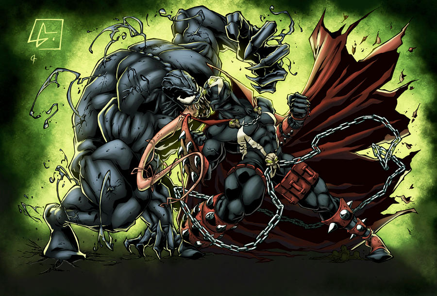 Venom VS Spawn by logicfun