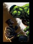 Wolverine Vs Hulk Color