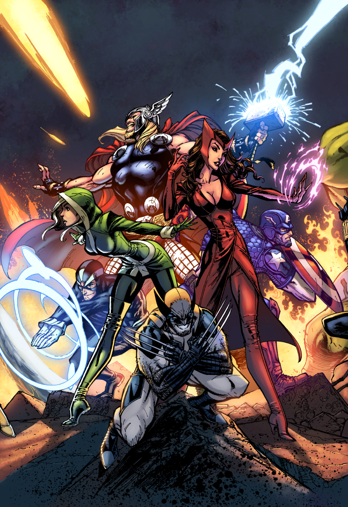 Uncanny Avengers Color by logicfun