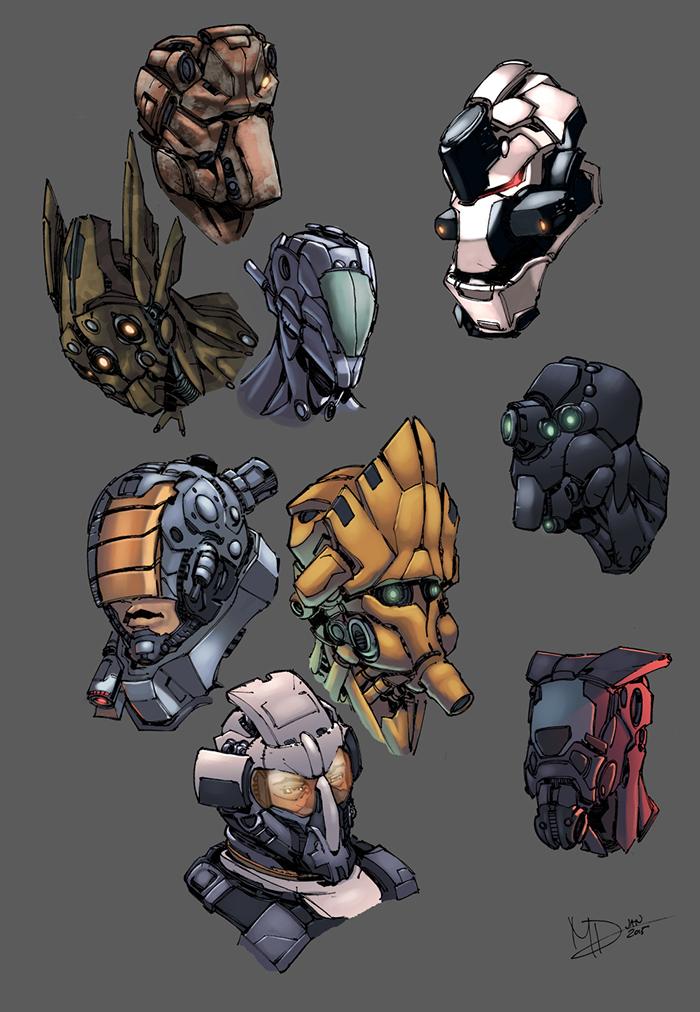 Future Faces Color by logicfun