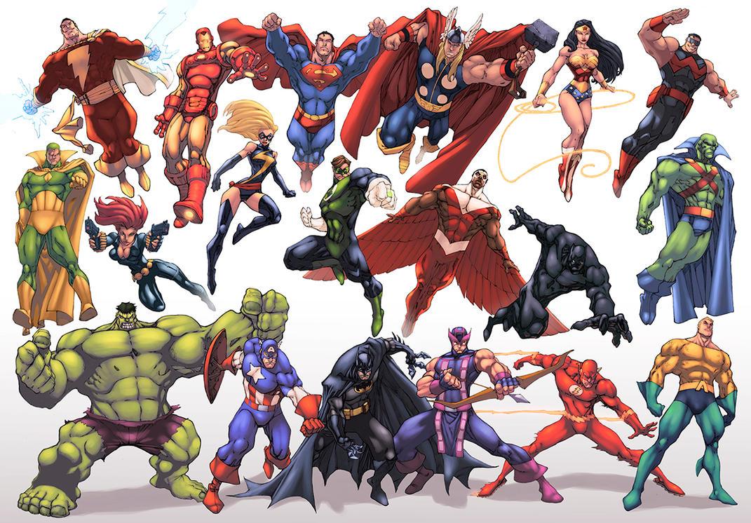 JLA/Avengers Color by logicfun