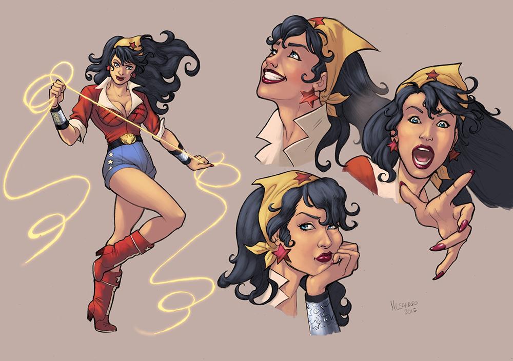 Bombshell Wonder Woman color by logicfun