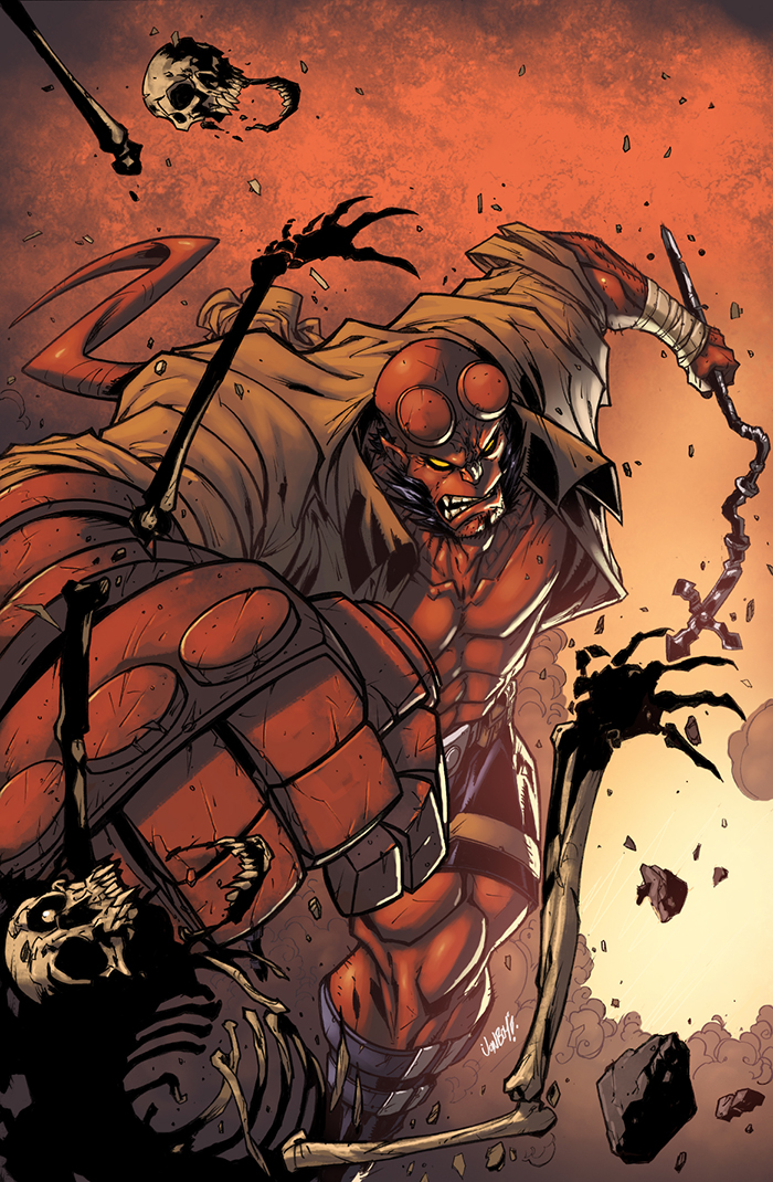Hellboy Color by logicfun