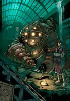 Fanart Bioshock color by logicfun