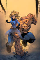 Sue Storm And Thing Color