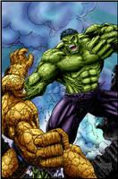 hulk vs thing by logicfun