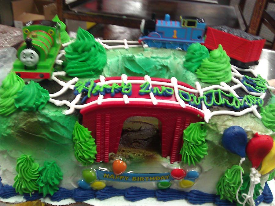 Thomas Train Cake Pictures Thomas The Train Two Tier Cake