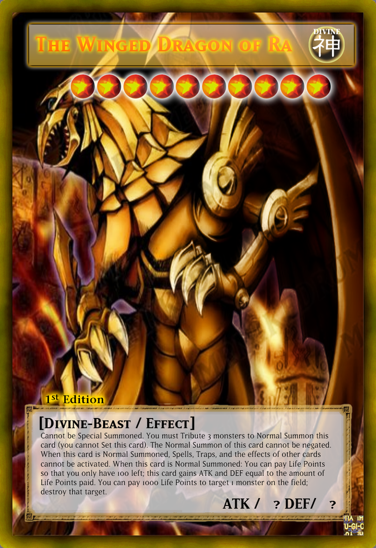 The Winged Dragon Of Ra Anime CardThe Winged Dragon Of Ra Effect