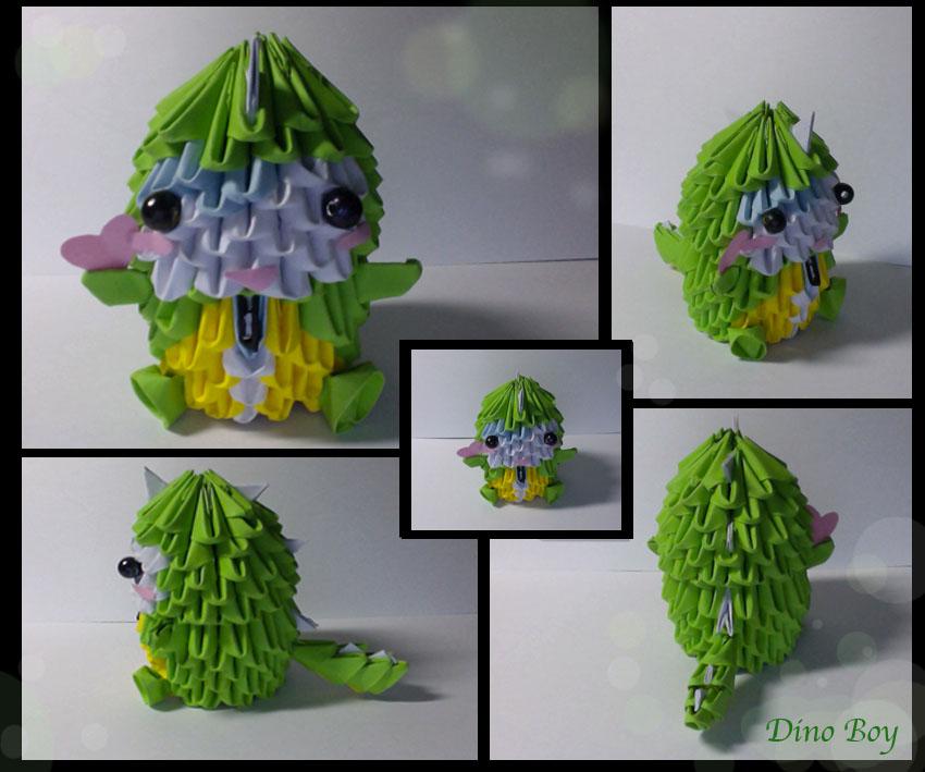 3D Origami Dino Boy By XxXmarshmellowXxX