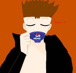 Captain Dark Blue-Drink Pepsi by VegetaNiko