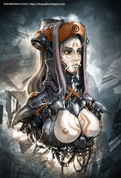Cyborg Girl Bust by ichitakaseto