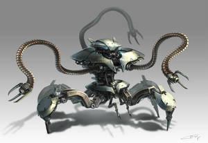 Alien Crawler Bot Concept