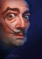Salvador Dali Caricature by StDamos