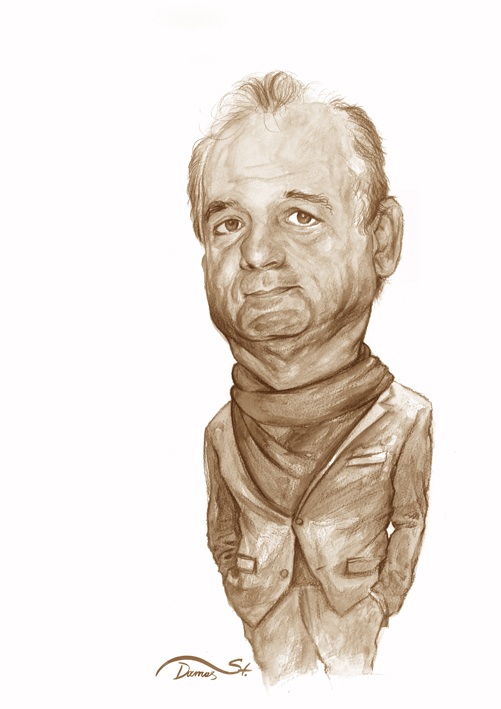 Bill Murray Caricature by StDamos