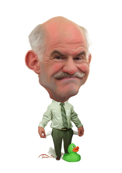Andreas Papandreou Caricature by StDamos